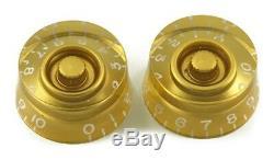 Boutons D'or De Vitesse (métriques) Pour Guitare Epiphone & Import (ensemble De 2) Nouveau