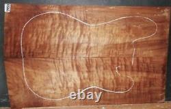 Caillebotis En Bois D'érable 9959 Luthier Solid Body Guitar Top Set 25x 15,5x. 500