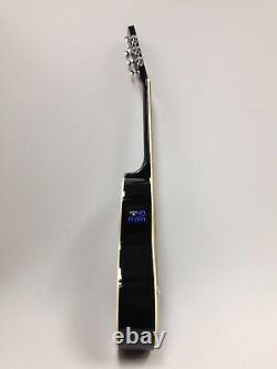 Caraya Parlor Guitar Ebony Parlor-590 Avec Eq + Free Gig Bag, Extra String Set