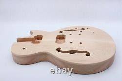 Casquette D'érable Unfinished Guitar Body Mahogany Set In Curved Top Semi Hollow Lp Style