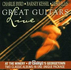 Charlie Byrd Great Guitars En Direct (2 Set) Barney Kessel, Herb Ellis, Nouveau