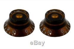 Chocolat Nouveau Vintage De Bell Boutons De Commande Pour Set Guitares De 2 Pk-0140-036