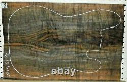 Claro Walnut Figurine Bois 9576 Luthier Ensemble Haut De Guitare Pour Corps Massif 22x 14,5x. 500