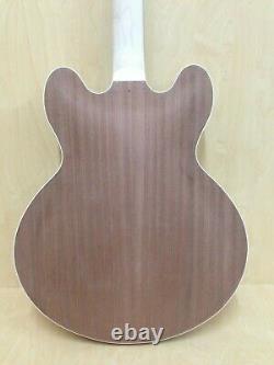 Complet No-solder E-272ma-diy Semi-hollow Body Electric Guitar Diy Kit, Set Neck