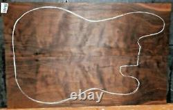 Couette Claro Walnut Wood 10196 Luthier 5a Grade Guitar Top Set 22x 14.75x. 375