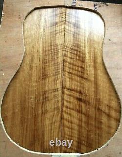 Curly Quartersawn Chêne Blanc Guitare Acoustique Tonewood Dos Et Côtés Mis 1527