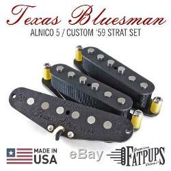 Custom'59 Strat Set De Ramassage Pour Wound Stratocaster Scatter Alnico 5