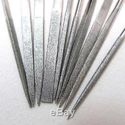 Diamant Aiguille Nut Pin Chantourner Fichier Set Trou Sous Dépôt Guitare Réparation Luthier Outil