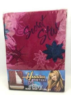 Disney Hannah Montana Guitare 66 X 54 Rideaux En Prêt Set Nouveau