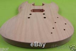 Diy Guitare Électrique Remplacement Du Corps En Acajou De Style Unfinished Sg Set In