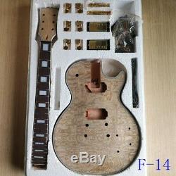 Diy Unfinished 1 Set Corps De Guitare Électrique Et Du Cou Pour Les Kits De Guitare De Style Lp