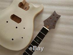 Diy Unfinished 1 Set Corps Et Manche De Guitare Électrique Pour Kit De Guitare De Style Prs