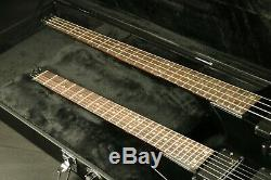 Double Cou Sans Tête Guitare Électronique Et Basse Solid Body Cou Set En Noir