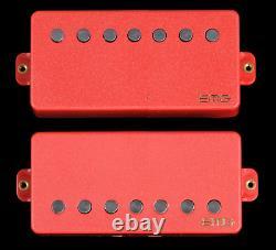 Emg 57-7h + 66-7h Red 7 String Humbucker Mount Pickup Guitar Active Set & Wiring
