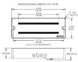 Emg 808 + 808 White 8 String Soapbar Active Guitar Pickup Set Pots & Wiring