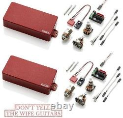 Emg 81-7h + 60-7h Red 7 Chaîne Active Sans Souder Kit De Ramassage De Guitare Humbucker