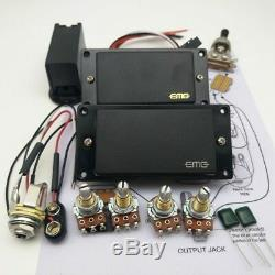 Emg Guitare Électrique Active Préampli Humbucker Set 81 85 Micros Câblage