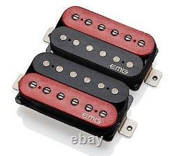 Emg Super 77 Retro Active Guitar Pickup Set Rouge/noir