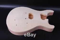 Ensemble Guitare Acajou Corps + Manche Érable Manche D'érable Abalone Incrustations Guitare Électrique Bricolage