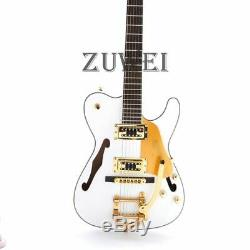 F Trou Tl Guitare Électrique Bigsby Pont D'or Hardware Set En Blanc Couleur Archtop