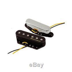Fender Vintage Noiseless Tele Telecaster Noiseless Pont Guitare De Cou Ramassage Set