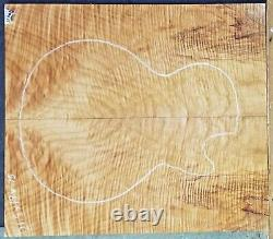 Figured Flame Maple Wood 11305 Luthier 5a Guitare Les Paul Top Set 21.5x19x. 750