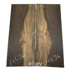 Figured Gaboon Ebony Guitar Back & Side Classical Set #fcl36 Luthier Tonewoods