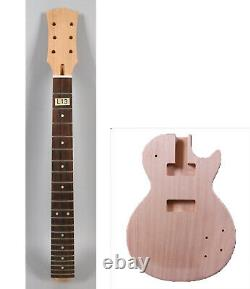 Fit Diy Electric Guitar Kit Acajou Guitar Neck Unfinished Guitar Body Set In