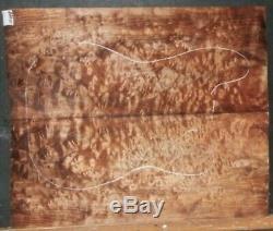 Flamme Matelassée Instrument De Bois D'érable 10005 Luthier 5a Solid Body Guitar Set Top