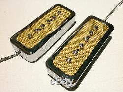 Fleuret P90 Savon Set Bridge De Ramassage Et Du Cou D'or Chrome Électrique Personnalis¨  Guitare