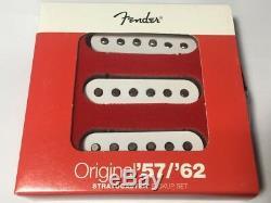 Genuine USA Fender Strat Guitare Original 57/62 Pickup Set Américain Nouveau
