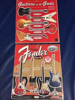 Gibson Guitars Des Dieux Et Fender Magnet Set Nouveau