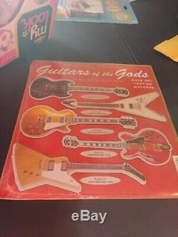 Gibson Guitars Des Dieux Vintage 1996 Magnet Set Les Paul Flying V Nouveau