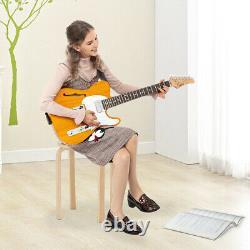 Glarry Gtl Semi-hollow F Hole Electric Guitar Set+bag+tool+pick+strap Uk Vendeur