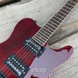 Grote Set In Neck Red Color Electric Guitar Black Hardware Locking Tuners