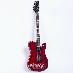Grote Set-in Electric Guitar Avec Accordeurs De Verrouillage (rouge) Grwb-tlrd