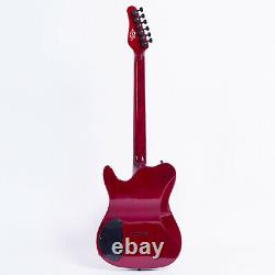 Grote Tele Set In Neck Electric Guitar Red Color Locking Tuners (rouge)