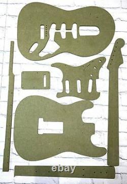 Guitar Template Set Stratocaster Cnc Fait Des Modèles 100% Précis