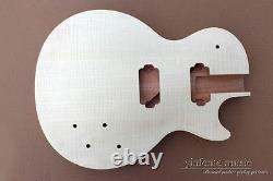 Guitare Diy Body Replacement Mahogany Flame Maple Placage Set In Heel
