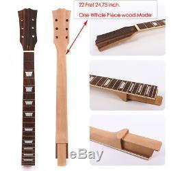 Guitare Électrique Cou Remplacement 22fret 24.75inch Set In One Acajou Rosewood