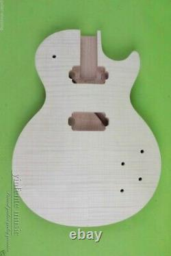 Guitare Inachevée Body Flame Maple Mahogany Diy Electric Guitar Set In #us