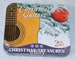 Guitare Noël 2 CD Coffret Cadeau Nouveau Dans Sealed Tin Classic 20 Christmas Songs