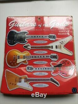 Guitares Des Dieux Aimant Fixé Par Gibson Bleu Q Nouveau Vintage 1996 Paquet Scellé