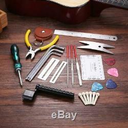 Guitares Réparation D'entretien Ensemble D'outils Boîte À Outils Guitare Avec Cordes Règle Cutter Nouveau