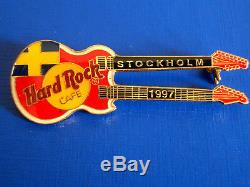 Hrc Hard Rock Cafe 5 Pin Set Stockholm Blanc Tueuses 3 Guitars 2 Autres Nouveaux