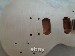 Inachevé 1 Ensemble De Kits De Guitare Électrique Corps Et Cou Pour Les Pièces De Style Lp