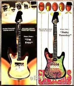 Jeu De 2 Pierres A Rolling Ornements Musicaux Guitares Chansons Rock Classiques Noël Nouveau