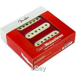 Jeu De Ramasseurs De Guitare D'origine Fender Gen 4 Noiseless Stratocaster / Strat Blanc Vieilli