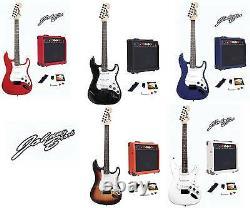Johnny Brook Electric Guitar Kit Set & 20w Amplificateur Musique Parfait Paquet Cadeau
