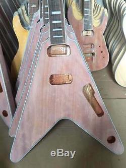 Kit De Guitare Électrique 1 Jeu De Guitares Électriques Cou Et Corps Flying V Diy